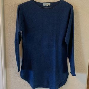 Cute blue Joan VASS sweater, L